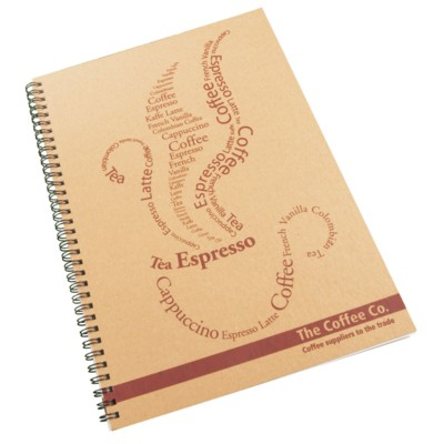 ENVIRO-SMART NATURAL COVER A4 SPIRAL WIRO BOUND NOTE PAD