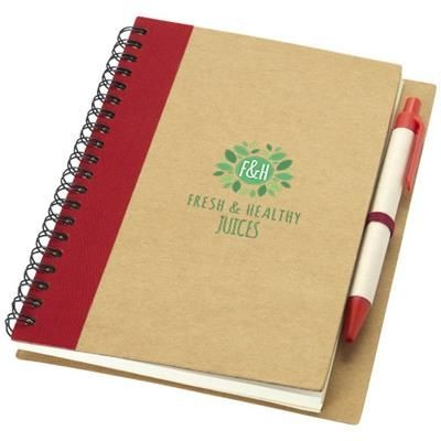 PRIESTLY NOTE BOOK AND PEN in Natural-red