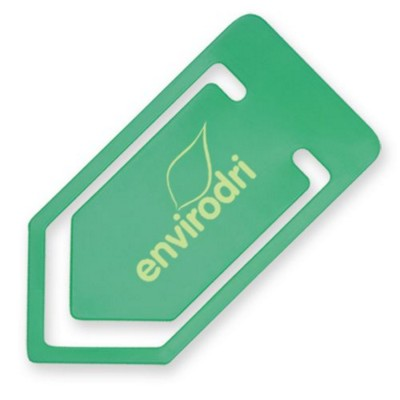 LARGE RECYCLED PAPERCLIP in Green