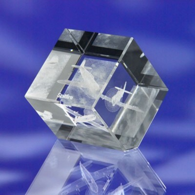 CUT CORNER GLASS CUBE