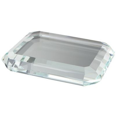 OCTAGONAL GLASS PAPERWEIGHT