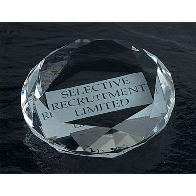 OPTICAL CRYSTAL GLASS PAPERWEIGHT