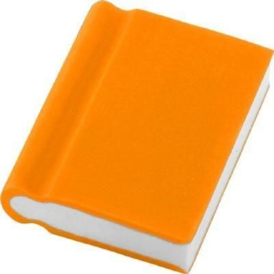 BOOK ERASER in Orange