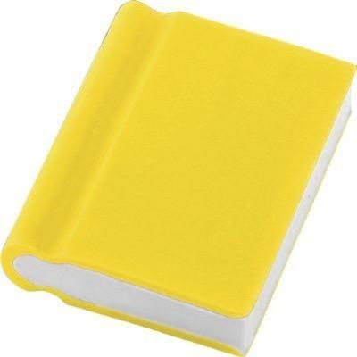 BOOK ERASER in Yellow