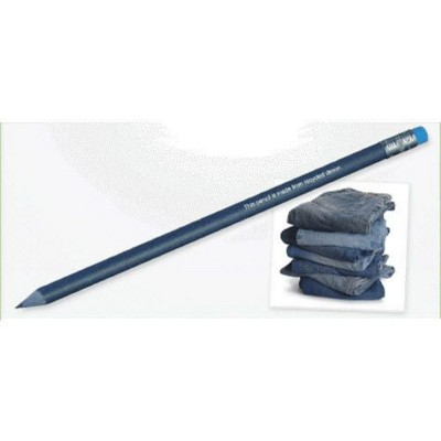 GREEN & GOOD RECYCLED DENIM PENCIL with Eraser