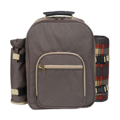LUXURIOUS PICNIC BACKPACK RUCKSACK SET in Brown
