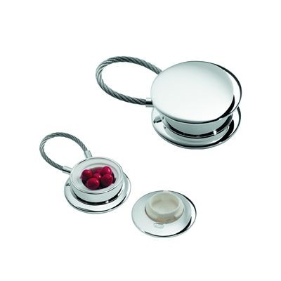 BRERA METAL PILL BOX KEYRING in Silver