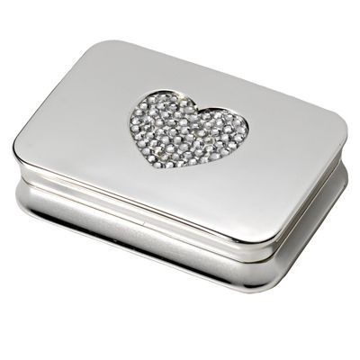 HEART METAL PILL BOX in Silver