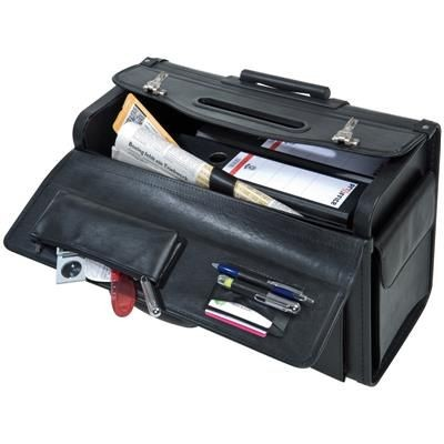 CRISMA PILOT DOCUMENT TROLLEY BAG in Black