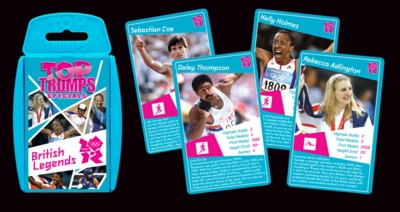 BRITISH LEGENDS TOP TRUMPS PLAYING CARDS