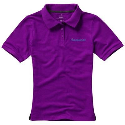 CALGARY SHORT SLEEVE LADIES POLO in Plum