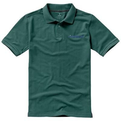 CALGARY SHORT SLEEVE POLO in Forest Green
