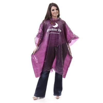 DISPOSABLE PROMOTIONAL RAIN PONCHO