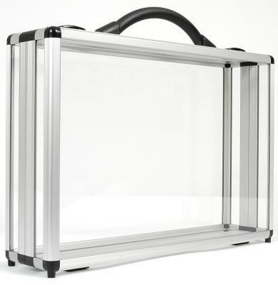 DIVIDE 100 CLEAR TRANSPARENT PRESENTATION BRIEFCASE