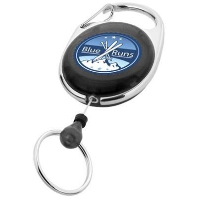 GERLOS ROLLER CLIP KEYRING CHAIN in Black Solid