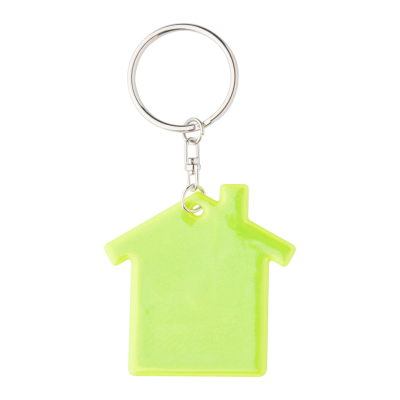 ABRAX REFLECTIVE VISIBILITY KEYRING in House Shape