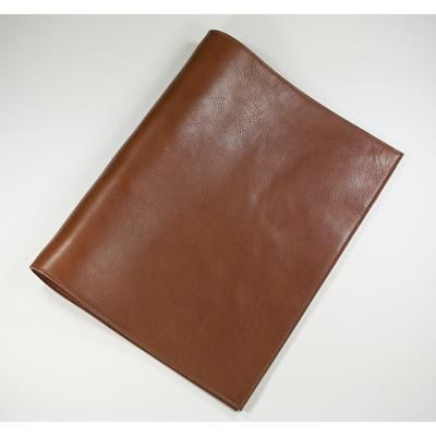 ECO VERDE GENUINE LEATHER NON-ZIPPED A4 RING BINDER in Tan
