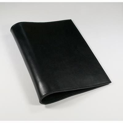 ECO VERDE GENUINE LEATHER NON-ZIPPED A5 RING BINDER in Black