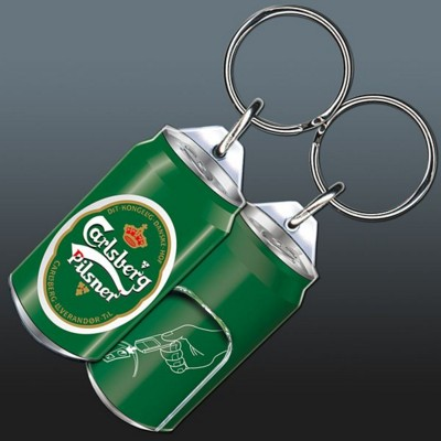 HIGH QUALITY ACRYLIC KEYRING with Ring Pull Can Opener