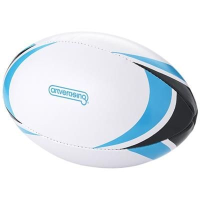 STADIUM RUGBY BALL in White Solid-blue