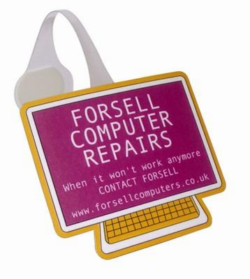 COMPUTER SHAPE MESSAGE DISPLAY SHELF WOBBLER with Full Colour Print