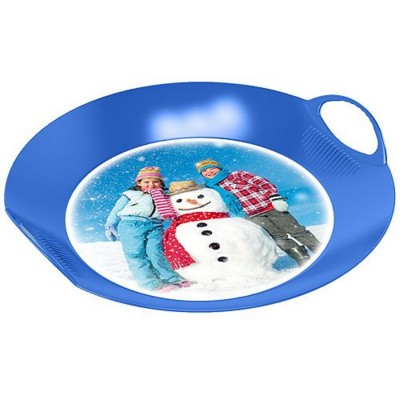 IMOULD BRANDED PLASTIC ROUND SNOW GLIDER TRAY