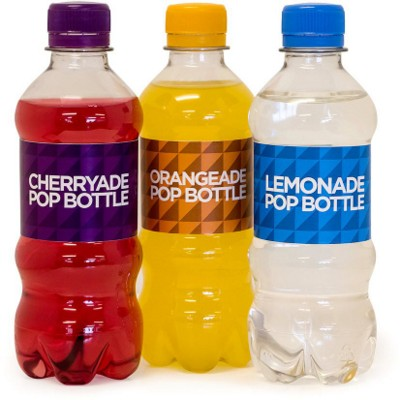 BOTTLE OF POP with CMYK Printed Sticky Label