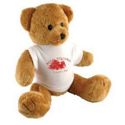 10 INCH TALL ROBBIE BEAR with White Tee Shirt