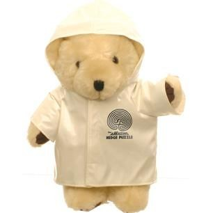 HONEY BEAR with Coat in White