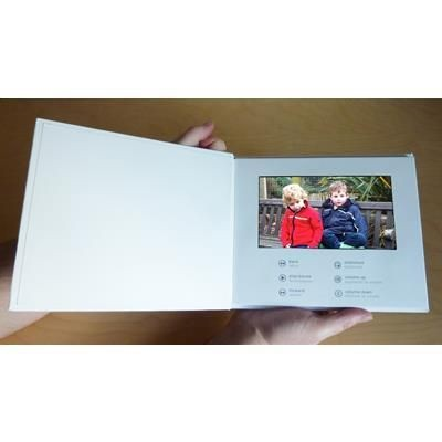 UPLOAD YOUR OWN 7 INCH SCREEN A5 HARD BACKED VIDEO BROCHURE