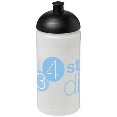 BASELINE® PLUS 500 ML DOME LID SPORTS BOTTLE in Transparent-black Solid