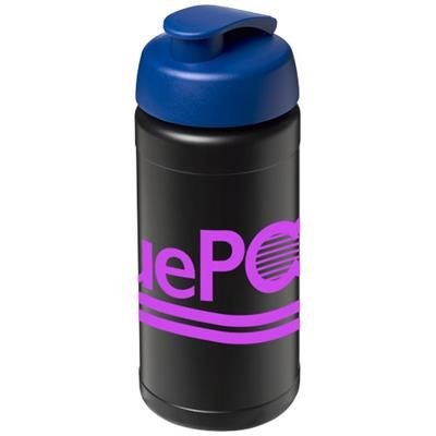 BASELINE® PLUS 500 ML FLIP LID SPORTS BOTTLE in Black Solid-blue