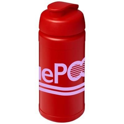 BASELINE® PLUS 500 ML FLIP LID SPORTS BOTTLE in Red