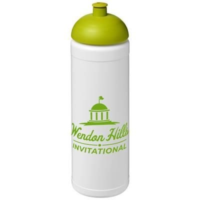 BASELINE® PLUS 750 ML DOME LID SPORTS BOTTLE in White Solid-lime Green