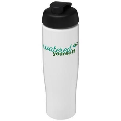 H2O TEMPO® 700 ML FLIP LID SPORTS BOTTLE in White Solid-black Solid