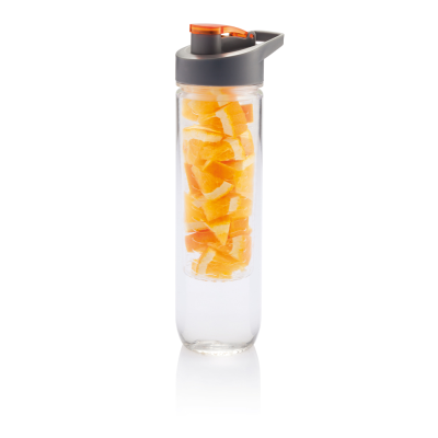 WATER BOTTLE with Infuser in Orange