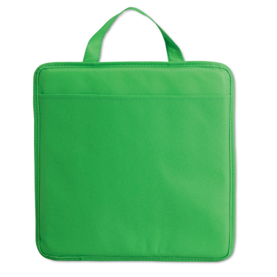 NON WOVEN STADIUM SEAT CUSHION with Pocket in Green