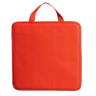 NON WOVEN STADIUM SEAT CUSHION with Pocket in Red