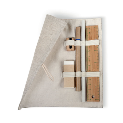 ECO FRIENDLY 6 PIECE STATIONERY SET in Natural