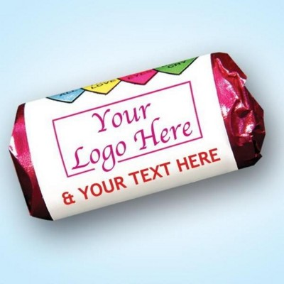 LOVE HEARTS SWEETS ROLL with Personalised Wrapper