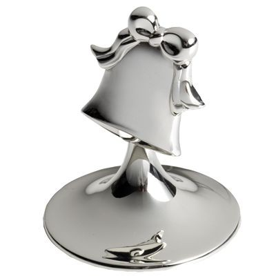 BELL METAL PLACE CARD HOLDER in Silver