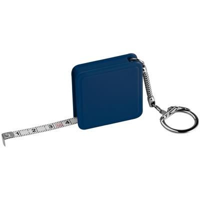 1 METER STEEL MEASURING TAPE with Keyring Chain in Blue