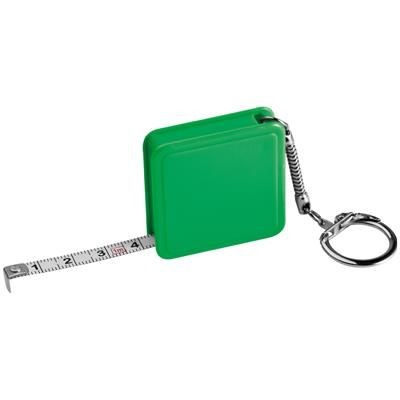 1 METER STEEL MEASURING TAPE with Keyring Chain in Green
