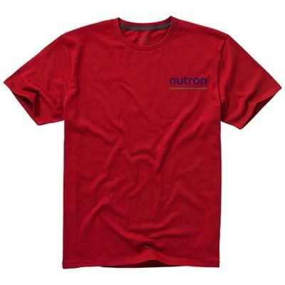 NANAIMO SHORT SLEEVE MENS T-SHIRT in Red