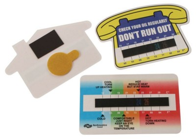 ROOM THERMOMETER GAUGE CARDS