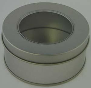 ROUND SLIP LID TIN with Window