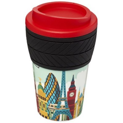 BRITE-AMERICANO® TYRE 350 ML THERMAL INSULATED TUMBLER in Red