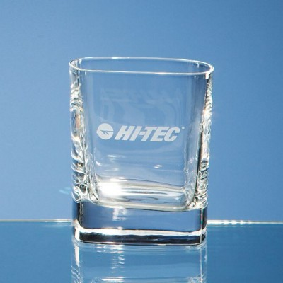 8OZ STRAUSS SQUARE WHISKY TUMBLER GLASS