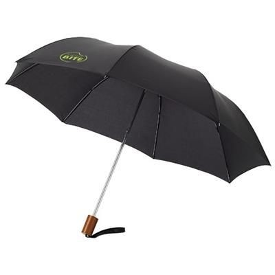 20 INCH OHO 2-SECTION UMBRELLA in Black Solid