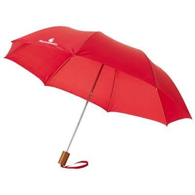 20 INCH OHO 2-SECTION UMBRELLA in Red